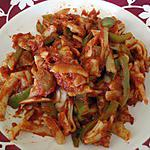 recette Pâtes aux poivrons verts et tomates