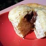 recette muffin à la banane, au coeur de nutella