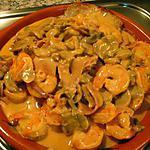 recette Bife de Porco com camarao e cogumelos (Tranches de porc crevettes champignons)