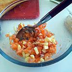 recette Tartare de saumon, pomme, échalotte