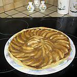 recette Tarte aux pommes et creme de marrons