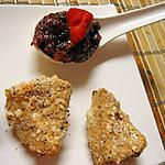 recette Camembert en croûte de noisettes et son chutney de fraises