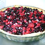 recette Tarte aux fruit rouges au lait végétale (sans lactose)