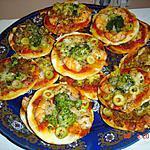 recette MINI PIZZA (SAUMON,CREVETTE,BROCOLI)