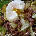 Salade campagnarde et son oeuf poché