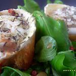 recette salade aux chèvres chauds