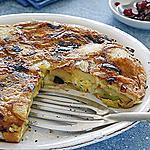 recette Tortilla aux poireaux avec airelles