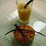 recette Gateau manioc-coco et compote pomme-canelle vanillée