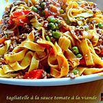 recette Tagliatelle à la sauce tomate et viandes