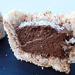 recette Petits Sablés coco et sa mousse au chocolat