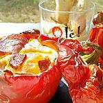 recette Oeufs cocotte de poivrons venu d'espagne