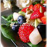 recette Salade d'épinards aux fraises, bleuets et poires