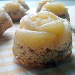 Bouchées de rose fondante au citron et amandes