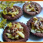 recette Fondant  praliné et pommes poêlées