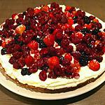 recette Tarte chantilly fruits rouges