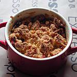 recette Crumble de pomme en mini cocotte