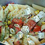 recette Salade de pâtes à la feta rapide