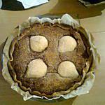 recette Tarte aux poires chocolat / amandes.