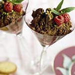 """recette Mousse au Toblerone noir et """"granité"""" menthe pistache"""