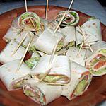 recette wraps saumon fumé et avocat