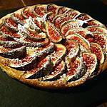 recette Tarte fine aux figues et crème d'amandes...