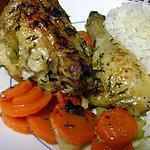 recette Poulet Roti au thym sur lit de carottes au cumin