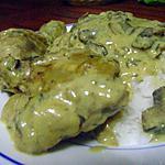 recette Poulet aux champignons et à la crème de soja(sans lactose)