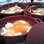 Oeuf cocotte aux 3 fromages