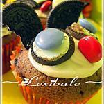 recette Cupcakes au chocolat et bleuets rigolos