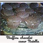 recette Muffins Chocolat coeur nutella
