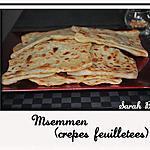 recette Msemmens (crêpes feuilletés)