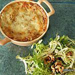recette Gratin de crêpes à la farine de lentilles, légumes et épeautre