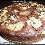 recette Brownie chocolat et poires