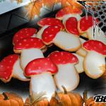 Sablés en forme de champignons vénéneux pour Hallowen