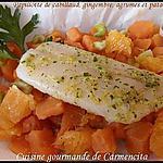 recette Papillotte, de cabillaud,  gingembre, agrumes et patates douces