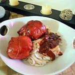 recette Paupiette de porc laqué et pate chinoise