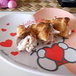Cone feuilleter farci sauce saumon