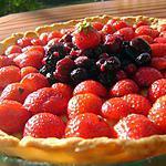 recette Tarte aux fraises et son Coeur de fruits rouges