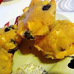 recette Muffins pomme, pêche, myrtilles