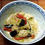 recette Curry vert de poulet