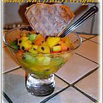 salade de fruits exotiques au miel