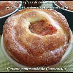 recette Petits flans de reblochon et coeur coulant de tomate et poivron confit