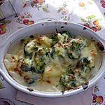 recette Gratin de brocoli au chevre frais