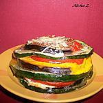 Mille-feuille aux légumes et à la mimolette