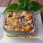 recette Gratin potimarron-champignons