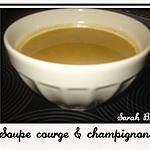 recette Soupe Courge & Champignons