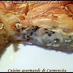 recette Pastilla poires et fourme d'Ambert
