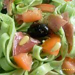 recette salade de tagliatelles au basilic