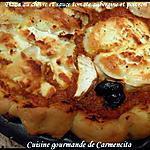 recette Pizza au chèvre et sauce tomate aubergine-poivron