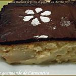 recette Gâteau moelleux de poires & ganache au chocolat noir